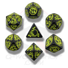 Black & Yellow Dragon Dice set