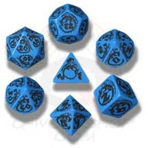 Blue & Black Dragon Dice set