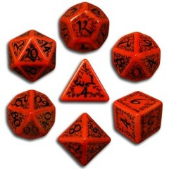 Red & Black Elven 7 Dice set