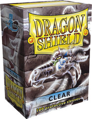 Dragon Shield Box of 100 in Clear on Channel Fireball