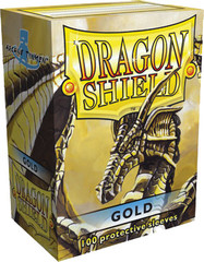 Dragon Shield Box of 100 in Gold on Channel Fireball