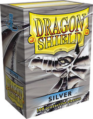 Dragon Shield Large Sleeves Silver (100 ct)