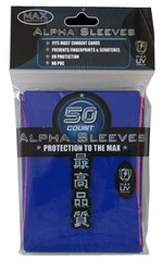 Max UV Protection Tournament Sleeves Blue Alpha (50 ct)