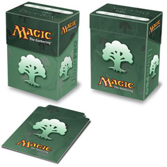 Ultra Pro Forest Green Mana Symbol Deck Box
