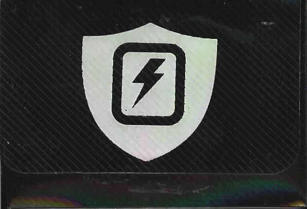Max Protection Horizontal Black Lightning Bolt Deck Box