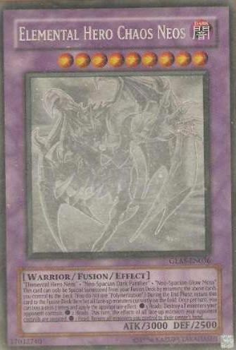 Elemental Hero Chaos Neos - GLAS-EN036 - Ghost Rare - 1st Edition