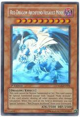 Red Dragon Archfiend/Assault Mode - Ghost Rare - CRMS-EN004 - Ghost Rare - 1st Edition on Channel Fireball