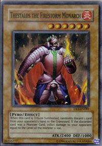 Thestalos the Firestorm Monarch - DR3-EN081 - Super Rare - Unlimited Edition