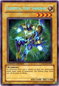 Elemental Hero Sparkman - EHC2-EN001 - Secret Rare - Limited Edition
