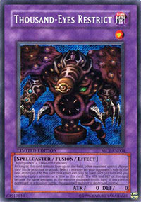 Thousand-Eyes Restrict - MC1-EN004 - Secret Rare - Limited Edition
