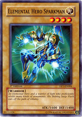 Elemental Hero Sparkman - MF03-EN004 - Parallel Rare - Limited Edition