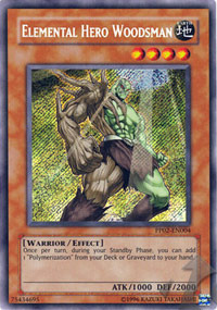 Elemental Hero Woodsman - PP02-EN004 - Secret Rare - Unlimited Edition