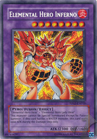Elemental Hero Inferno - PP02-EN010 - Secret Rare - Unlimited Edition