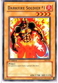 Darkfire Soldier #1 - SDJ-010 - Common - 1st Edition