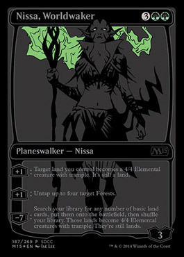 Nissa, Worldwaker - SDCC Exclusive Promo - M15