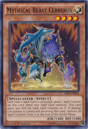 Mythical Beast Cerberus - BP03-EN018 - Common - 1st Edition