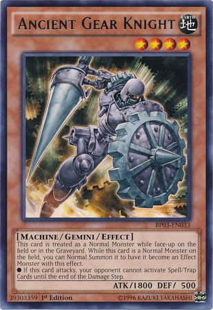 Ancient Gear Knight - BP03-EN033 - Rare - 1st Edition
