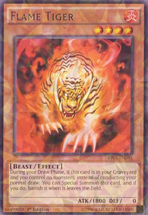 Flame Tiger - BP03-EN095 - Shatterfoil - 1st Edition
