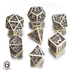 Beige-Black Dwarven Dice Set
