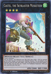 Castel, the Skyblaster Musketeer - DUEA-EN054 - Super Rare - 1st Edition on Channel Fireball