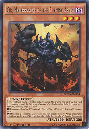 Cir, Malebranche of the Burning Abyss - DUEA-EN084 - Rare - 1st Edition
