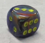 36 rio w/yellow Festive 12mm D6 Dice - CHX27849 on Channel Fireball