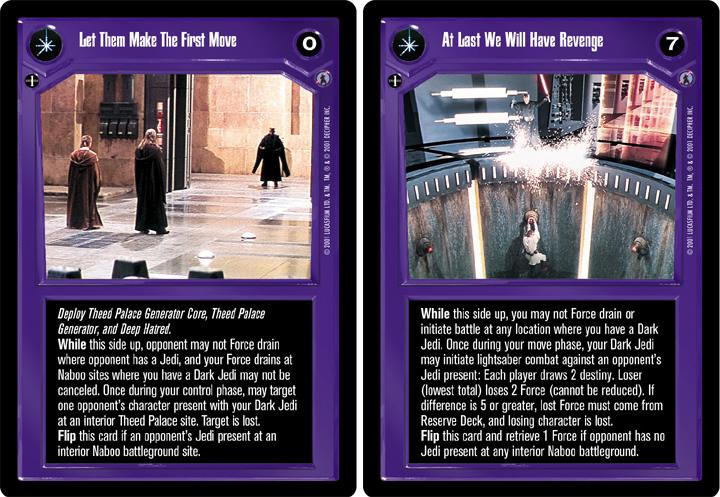 Star Wars CCG Ref III At Last We Will Have Revenge//Let Them Make The First Move