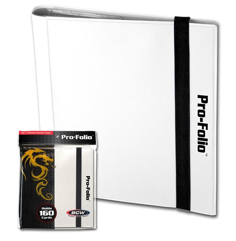 BCW Pro-Folio 4-Pocket - White