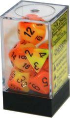 Orange-Yellow w/Black Gemini Polyhedral 7-Die CHX26442