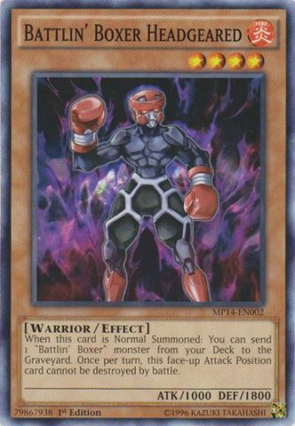 Battlin Boxer Headgeared - MP14-EN002 - Common - 1st Edition