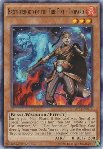 Brotherhood of the Fire Fist - Leopard - MP14-EN013 - Common - 1st Edition