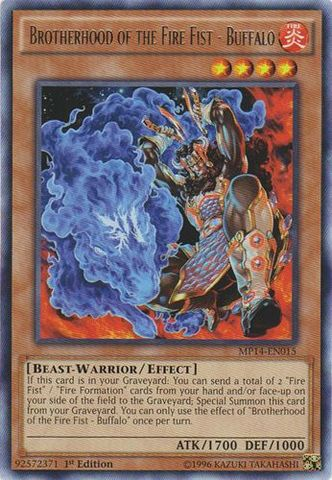 Brotherhood of the Fire Fist - Buffalo - MP14-EN015 - Rare - 1st Edition