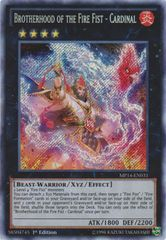 Brotherhood of the Fire Fist - Cardinal - MP14-EN031 - Secret Rare - 1st Edition