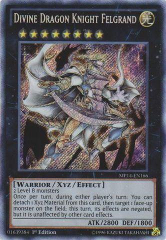 Divine Dragon Knight Felgrand - MP14-EN166 - Secret Rare - 1st Edition