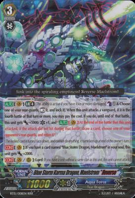 Blue Storm Karma Dragon, Maelstrom Reverse - BT15/S08EN - SP
