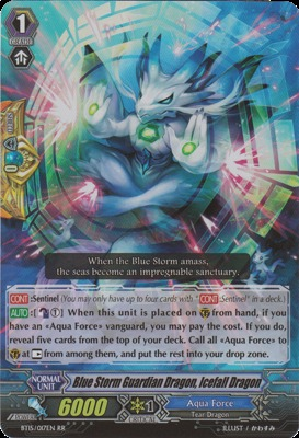 Blue Storm Guardian Dragon, Icefall Dragon - BT15/017EN - RR
