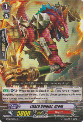Lizard Soldier, Grom - BT15/063EN - C