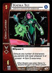 Katma Tui, Green Lantern of Korugar - Foil