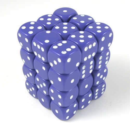 36 Opaque Purple w/White Spots D6 - CHX25807