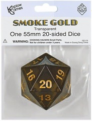 Jumbo Spindown turndown countdown D20 55mm Smoke w/Gold