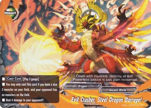 Evil Crusher, Steel Dragon Barrage! - EB01/0006 - RR