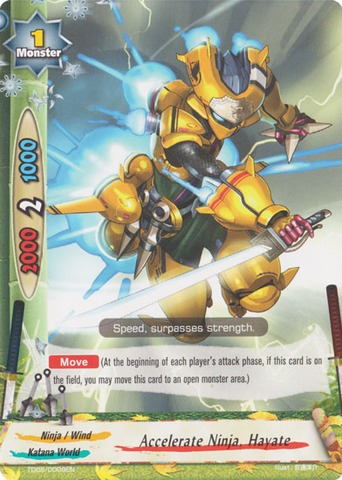 Accelerate Ninja Hayate Td05 0008 C Future Card Buddy Fight