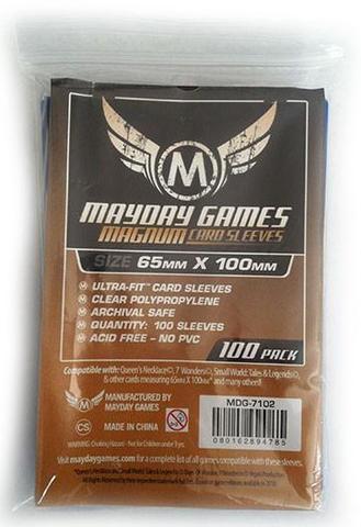 100 ct Magnum Copper 7 Wonders Card Sleeves - Blue