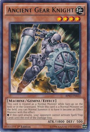 Ancient Gear Knight - BP03-EN033 - Rare - Unlimited Edition