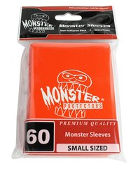60ct Monster Logo Orange Small Deck Protectors
