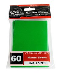60ct Monster Green Gloss Small Deck Protectors