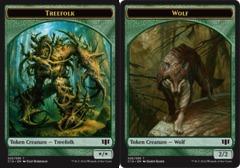 Treefolk Token // Wolf Token