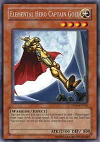 Elemental Hero Captain Gold - DP06-EN004 - Rare - 1st Edition