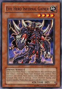 Evil Hero Infernal Gainer - DP06-EN007 - Common - 1st Edition