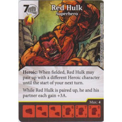 Red Hulk - Superhero (Die  & Card Combo)